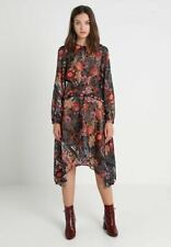 Anthropologie Foxiedox Floral Retro Flowers Dress Midi Length UK 14 US 10
