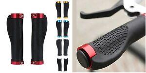 NEW Ergonomic Rubber MTB Mountain Bike Bicycle Handlebar Grips Cycling Lock-On