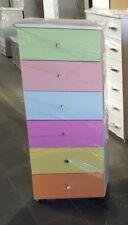 Settimino,mobile da 45cm in melaminico con 6 cassetti colore multicolor