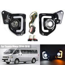 LED Daytime Running Fog Light For Toyota Hiace 2014 15-2018 Turn Signal Lamp DRL