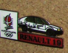 D12 PIN OLYMPIC OLYMPIQUE GAME SPORT RENAULT 19