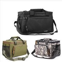Large Tackle Bag Canvas Travel Holdall Coarse Fishing Shoulder Pack Tool Handbag