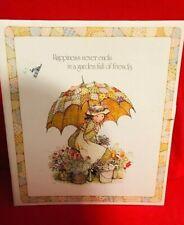 1975 American Greetings Holly Hobbie Scrapbook Yellow Umbrella Photo Album Book