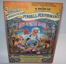Mystic Pinball FLYER 1980 Original Bally Game Artwork Magician Devil Houdini