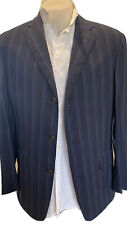 DUNHILL Italy Navy Blue Stripe Wool Suit Jacket Blazer $950 Mens IT 50L(40L) NEW
