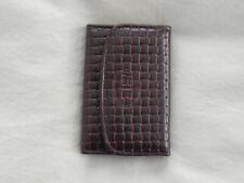 Brand New Buxton 6 Loop Pebbled Leather Key Case, Burgundy