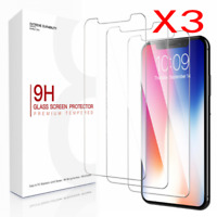 3 Pack For iPhone11 Pro XR XS Max X Screen Protectors Tempered Glass Thin Guard