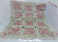 Copertina Culla Carrozzina/Coperta neonata/Copertina cotone realizzata a mano