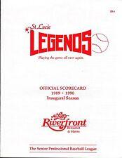 1989 - 1990 ST LUCIE LEGENDS  Senior League  Unscored  MAGAZINE PROGRAM  NM