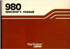 FIAT TRACTOR 980 & 980DT OPERATORS MANUAL