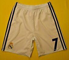 Ronaldo Real Madrid Home Shorts Size 13-14 y Youth White Football Adidas ig93
