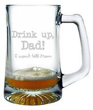Drink Up Dad Beer Mug Fathers Day Gift Birthday Large 25 oz. Sport Mug