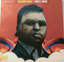 "SOLOMON BURKE - I WISH I KNEW - ATLANTIC SD 8185 12"" LP (K104)"
