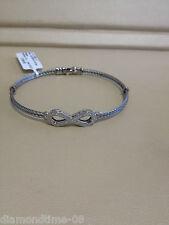 NEW ALOR CLASSIQUE ETERNITY DIAMOND WOMEN'S BRACELET 04-32-S808-11 A4-32-S808-11