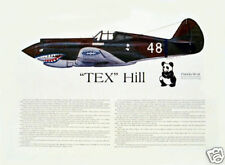 "Ernie Boyette ""P-40 Flying Tiger Ace, David 'Tex' Hill"" Signed by 'Tex Hill'"