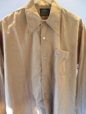 Vintage 60s 70s Sears Brown Crown Shirt Rockabilly Retro Big Band Mod TeddyBoy M