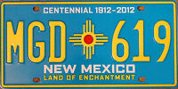 New Mexico TURQUOISE License Plate (RANDOM PLATE#)