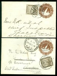 EGYPT : 2 Nice Uprated Envelopes with one being forwarded.