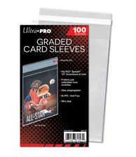Ultra Pro Graded Card Sleeves (100) Resealable Lip Bags - Fits PSA Beckett Slabs