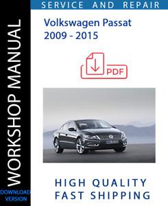 OFFICIAL WORKSHOP SERVICE & REPAIR MANUAL for Volkswagen Passat 2009 - 2015