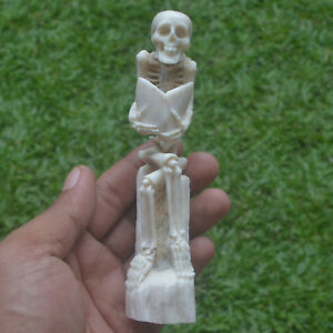 Skeleton Carving 135mm Height T278 in Antler Hand Carved