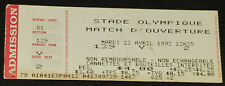 APRIL, 1993 MONTREAL EXPOS MLB OLYMPIC STADIUM OPENING GAME BASEBALL TICKET STUB