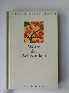 Worte der Achtsamkeit von Thich Nhat Hanh, gebunden, Zustand sehr gut