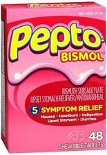 Pepto-Bismol Chewable Tablets Original 48 Tablets