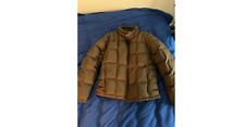 IBEX Brown Merino Wool Goose Down Full Zip Puffer Jacket EUC XL Extra Large