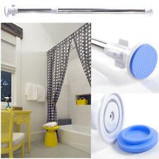Quick-Fit Metal Extendable Telescopic Shower Curtain Rail Bath Pole Rod Spring