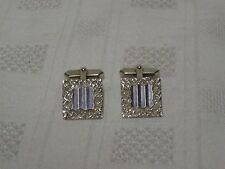 Vintage 1970's Sterling Silver Pair Of Square Cufflinks - 11g