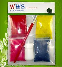 WWS Tuft Flower Dressing Kit for Static Grass Tufts, Railways & Dioramas.
