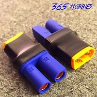 QTY-(2) Male XT60 to Female EC5 Losi Turnigy Connector Adapter 8ight SCT LiPo