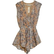 Lioness Womens Sleeveless Floral Romper Jumpsuit Size Small