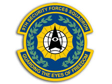 4x4 inch 9th Security Forces Squadron GUARDING FREEDOM Sticker -us logo insignia