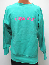 vtg CAPE MAY MINT GREEN Champion Reverse Weave Warmup XL 90s neon New Jersey usa