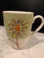 STARBUCKS COFFEE - YELLOW FLOWER LOGO, Ceramic Coffee Cup / Mug, VINTAGE. EUC