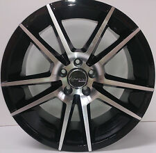 17 inch alloy wheels for Skoda Fabia Octavia Rapid Roomster black set of 4