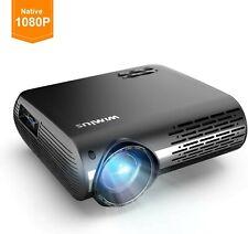 WiMiUS Projector 1080P, 6200 Lumen Video Projector HD 1080P Native 1920x1080