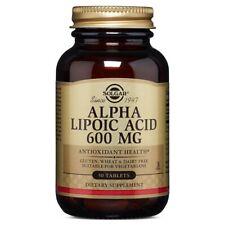 Solgar Alpha Lipoic Acid 600 mg 50 Tablets FRESH Made In USA, FREE US SHIPPING