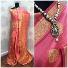 Handloom Silk Saree Weaving Sari with Blouse Designer Indian Women's Wear