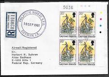 B123 caymann Islands/pájaros MiNr 460 I a reco-carta