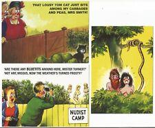 3 X Comic Seaside Postcards By Bamforth, #a7
