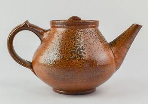 "7.5"" Mark Hewitt North Carolina Salt Glazed Pottery Teapot  - MT1"