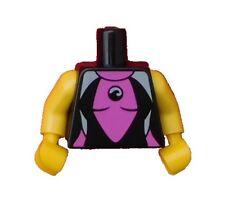 Lego Torso Surferin schwarz + gelbe Arme Hände Neu 973pb0842c01