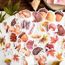46pcs Waldtiere Aufkleber Kawaii Briefpapier DIY Scrapbooking Aufkleber