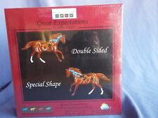GREAT EXPECTATIONS Painted Ponies Shaped Jigsaw PUZZLE 900 PC FREE Priority Ship