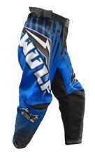 "Kids Wulfsport MX Pants Arena Blue cub race Pants size 28"" waist motocross MX"