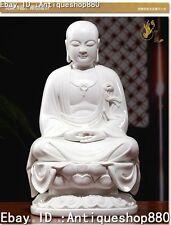 12'' Chinese Dehua Porcelain Tang Seng San Zang Ksitigarbha Monk Buddha Statue