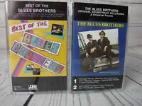 Cassette Tape Lot x2 THE BLUES BROTHERS Best Of and Original Movie Soundtrack